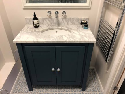 Undercounter Vanity Unit in Stifkey Blue