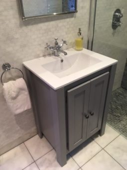 Overlay Sink Vanity Unit In Plummet