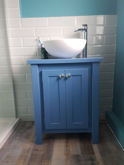 Countertop Vanity In Ultra Marine Blue